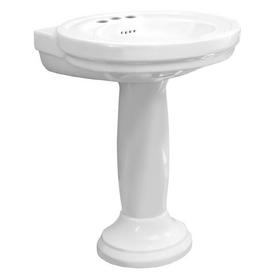 Porcher Archive White Complete Pedestal Sink Pedestal Basin And Leg