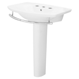 Porcher Pedestal Sink : Shop Porcher LExpression White Complete Pedestal Sink at Lowes.com