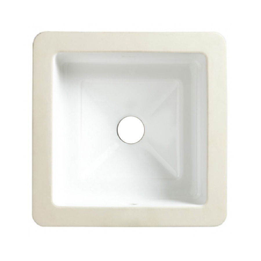Undermount Square Bathroom Sink : ... Standard Marquee White Undermount Square Bathroom Sink at Lowes.com