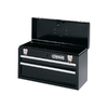 Kobalt 2-Drawer 20.5-in Steel Black Portable Tool Chest