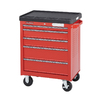Kobalt 5-Drawer 28-1/8-in Steel Tool Cabinet (Red)