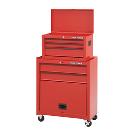 Task Force 43-in x 26.5-in 5-Drawer Friction Steel Tool Cabinet (Red)