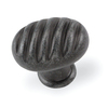 Laurey 1-3/8-in Antique Pewter Milan Oval Cabinet Knob