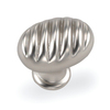 Laurey 1-3/8-in Satin Chrome Milan Oval Cabinet Knob