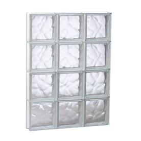 REDI2SET Wavy Glass Pattern Frameless Replacement Glass Block Window (Rough Opening: 23.75-in x 31.5-in; Actual: 23.25-in x 31-in)