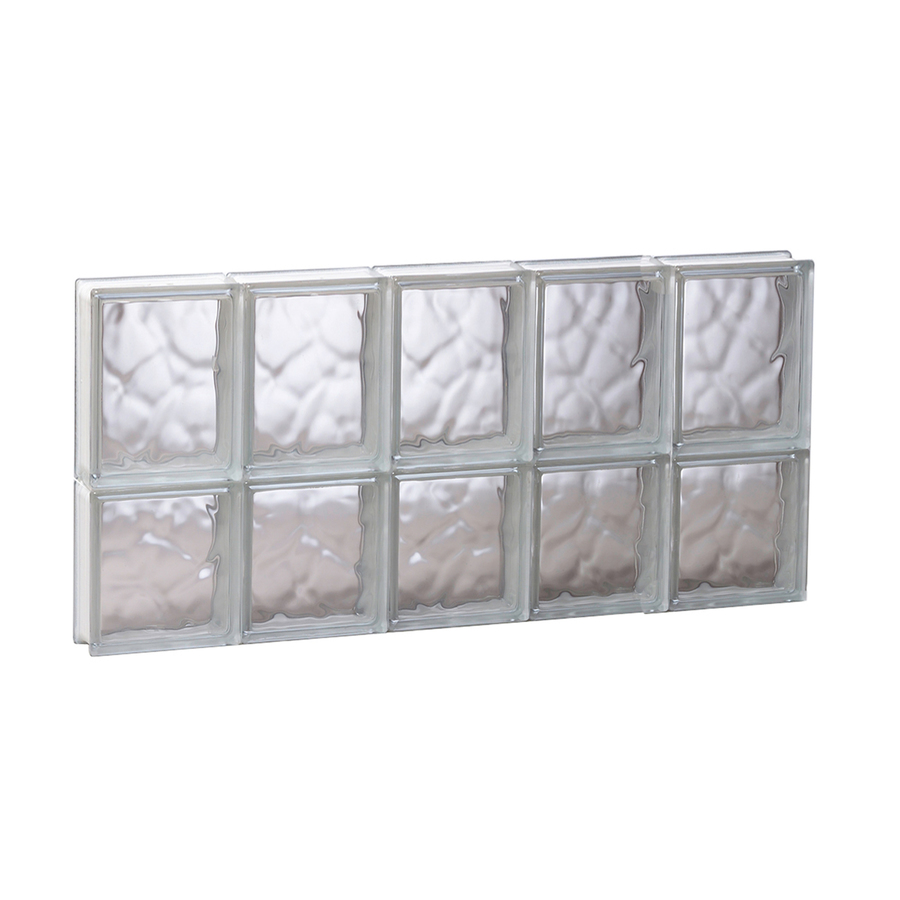Window glass glass block windows lowes for Glass block window sizes