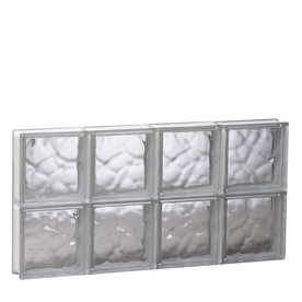 REDI2SET 31-in x 15-1/2-in x 3-1/8-in Glass Block