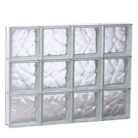 REDI2SET 31-in x 23-1/4-in x 3-1/8-in Glass Block