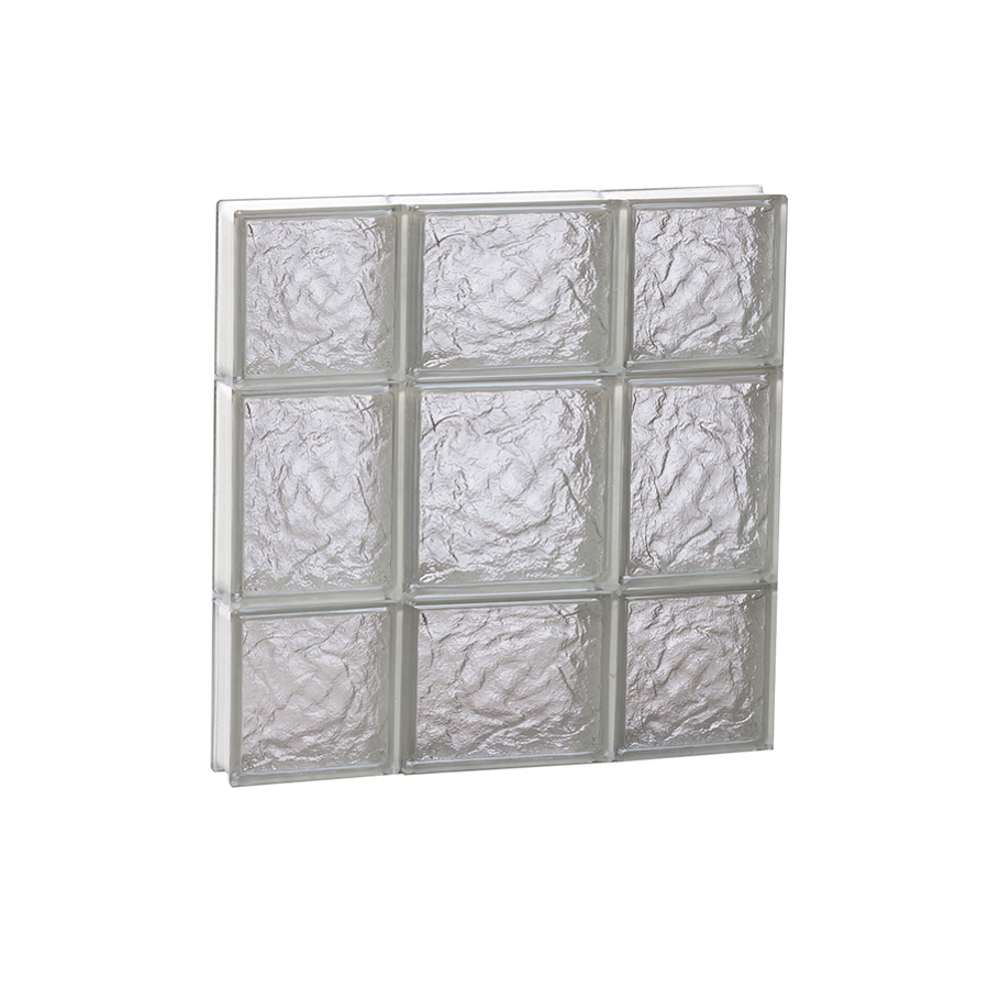 Shop redi2set 20 in x 20 in ice pattern frameless for Glass blocks for crafts lowes