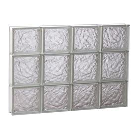 REDI2SET 32-in x 20-in Ice Pattern Frameless Replacement Glass Block Window