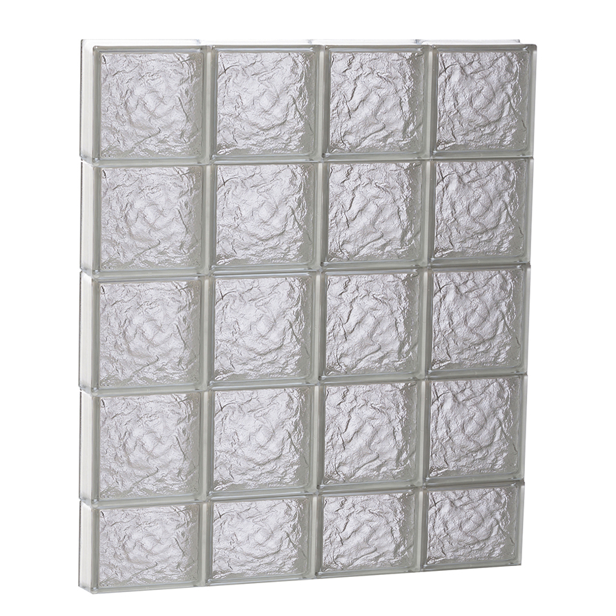 Shop redi2set 32 in x 38 in ice pattern frameless for Acrylic glass blocks