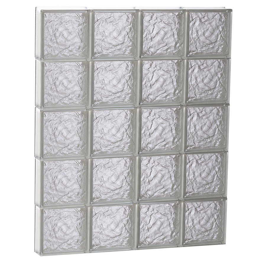 Shop redi2set 32 in x 40 in ice pattern frameless for Glass blocks for crafts lowes