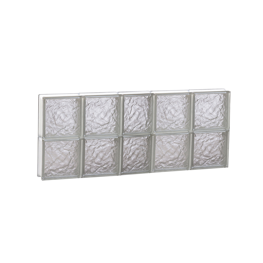 Shop redi2set 38 in x 16 in ice pattern frameless for Glass blocks for crafts lowes