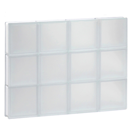 Shop redi2set frosted glass pattern frameless replacement for Glass blocks for crafts lowes