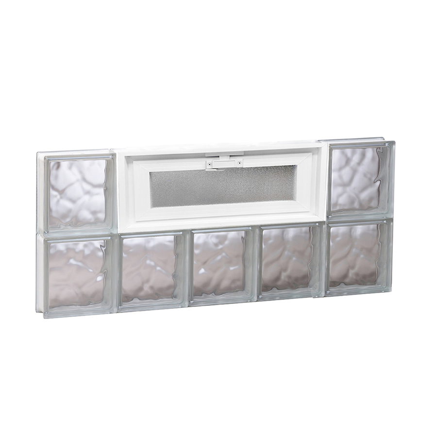 Shop redi2set 30 in x 12 in wavy pattern series frameless for Glass blocks for crafts lowes