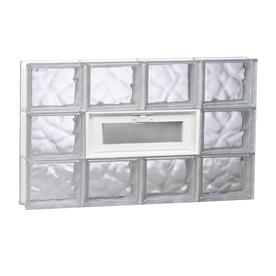 REDI2SET Wavy Glass Pattern Frameless Replacement Glass Block Window (Rough Opening: 31.5-in x 17.75-in; Actual: 31-in x 17.25-in)