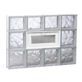 REDI2SET Wavy Glass Pattern Frameless Replacement Glass Block Window (Rough Opening: 31.5-in x 21.75-in; Actual: 31-in x 21.25-in)