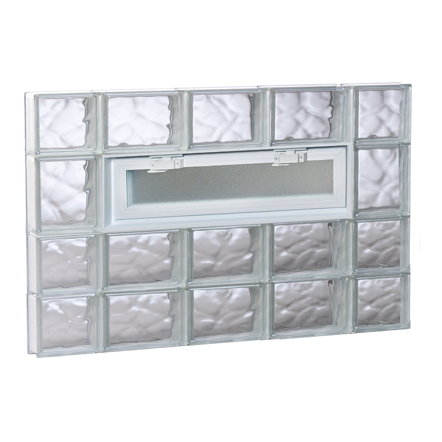 Shop redi2set 36 in x 26 in wavy glass pattern series for Glass blocks for crafts lowes