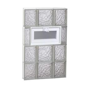 REDI2SET Ice Glass Pattern Frameless Replacement Glass Block Window (Rough Opening: 20-in x 32-in; Actual: 19.25-in x 31-in)