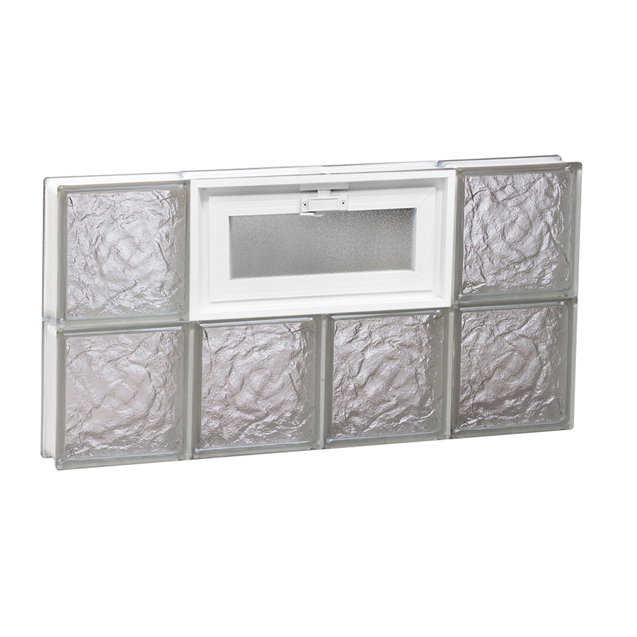 Shop redi2set 32 in x 16 in ice glass pattern series for Glass blocks for crafts lowes