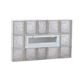 REDI2SET 38-in x 24-in Ice Glass Pattern Series Frameless Replacement Glass Block Window