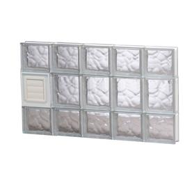 Shop redi2set wavy patternframeless replacement glass for Glass blocks for crafts lowes