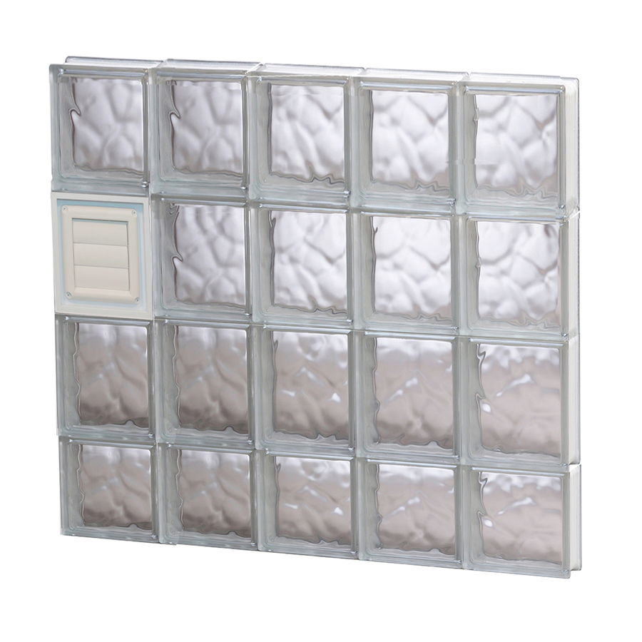 Shop redi2set 30 in x 30 in wavy glass pattern series for Where to buy glass block windows