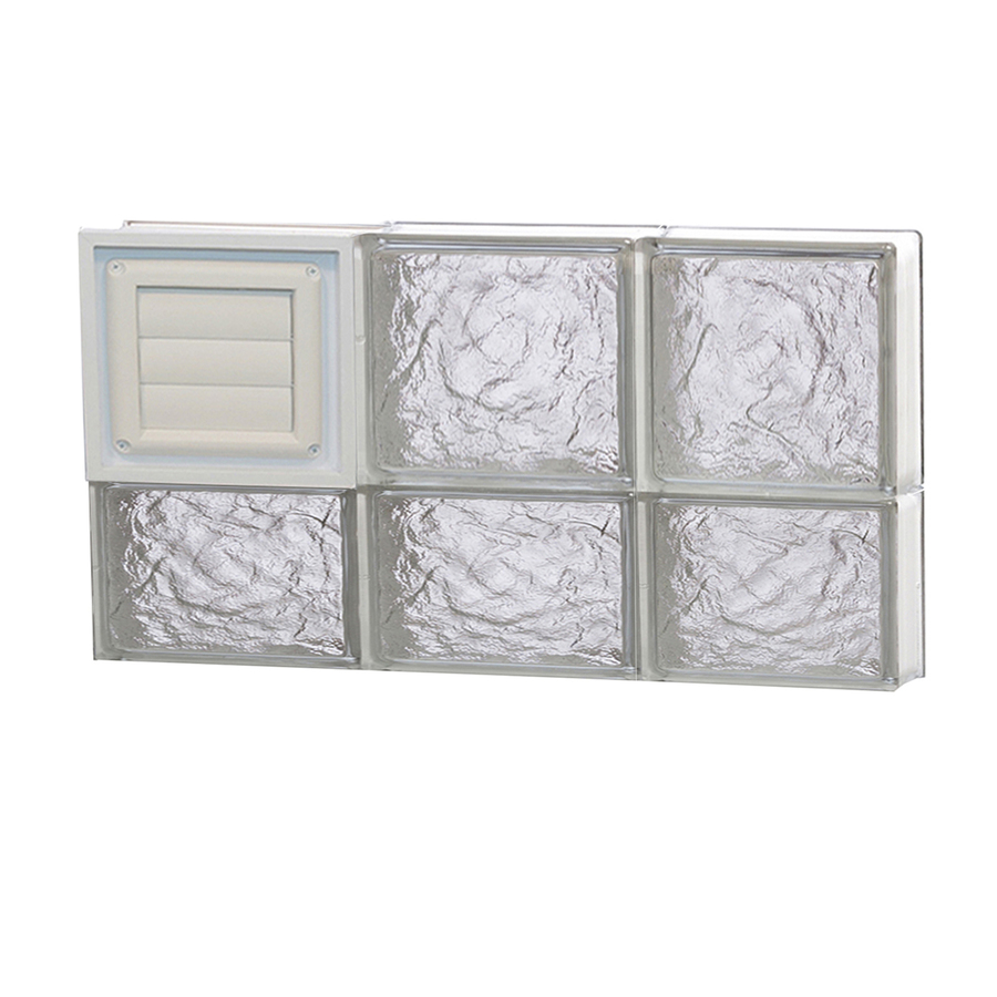 Shop redi2set 24 in x 14 in ice glass pattern series for Glass blocks for crafts lowes