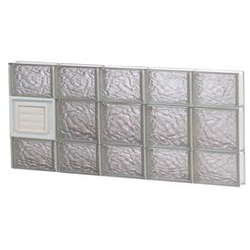 REDI2SET 40-in x 20-in Ice Glass Pattern Series Frameless Replacement Glass Block Window