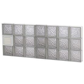 Shop redi2set ice glass pattern frameless replacement for Glass blocks for crafts lowes