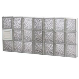 Shop redi2set ice patternframeless replacement glass block for Glass blocks for crafts lowes