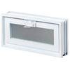REDI2SET Glass Block Vent (Common: 18-in W x 8-in H x 3-in D; Actual: 17.25-in W x 7.75-in H x 3.125-in D)