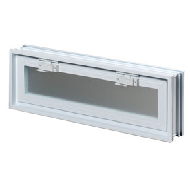 REDI2SET 23-1/4-in x 7-3/4-in x 3-1/4-in White Glass Block