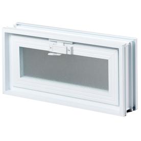 REDI2SET Glass Block Vent (Common: 16-in W x 8-in H x 3-in D; Actual: 15.5-in W x 7.75-in H x 3.125-in D)