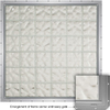 CrystaLok 10-in x 79-3/4-in Wavy Pattern Series Vinyl New Construction Glass Block Window