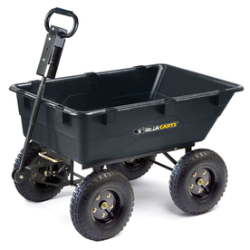 Gorilla Carts 5.5 cu ft Poly Yard Cart