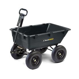 Gorilla Carts 5.5-cu ft Poly Yard Cart