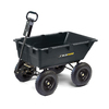 Lowes.com deals on Gorilla Carts 5.5-cu ft Poly Yard Cart GOR866D
