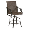 allen + roth Safford 2-Count Dark Brown Aluminum Patio Barstool Chairs