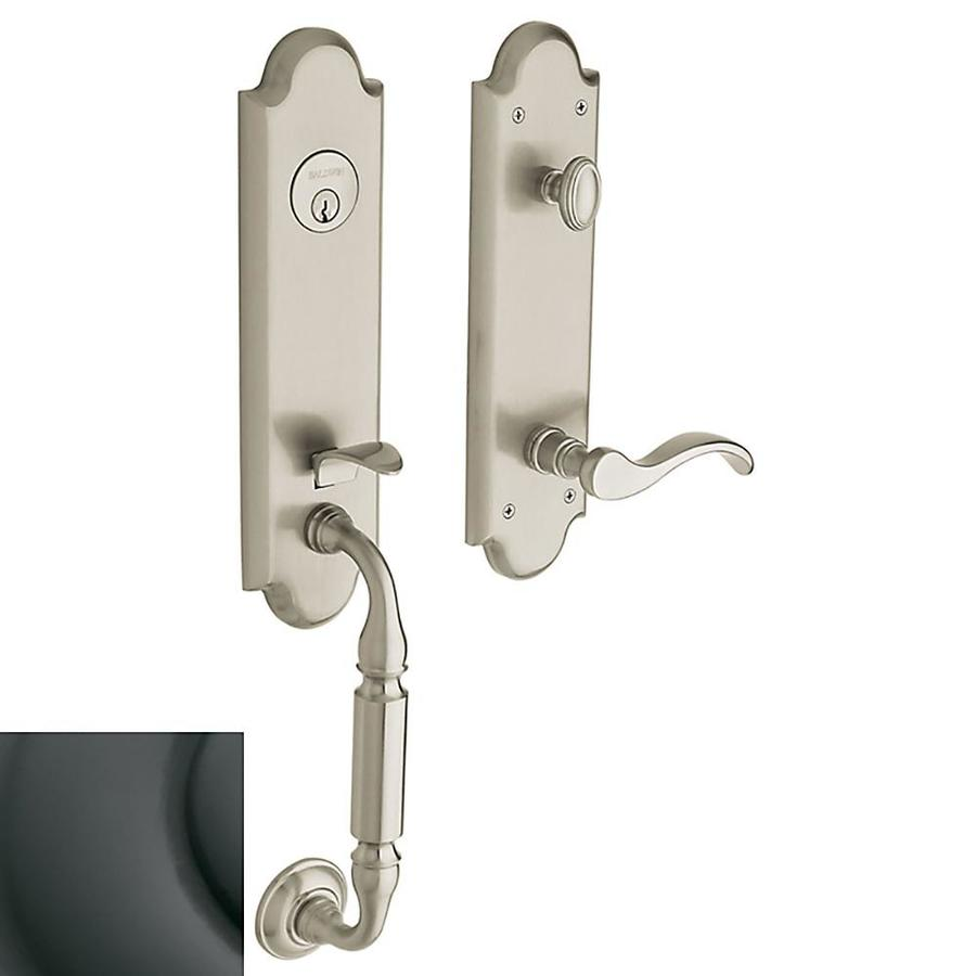 Shop BALDWIN Manchester Oil Rubbed Bronze Single Lock Keyed Entry Door Handle