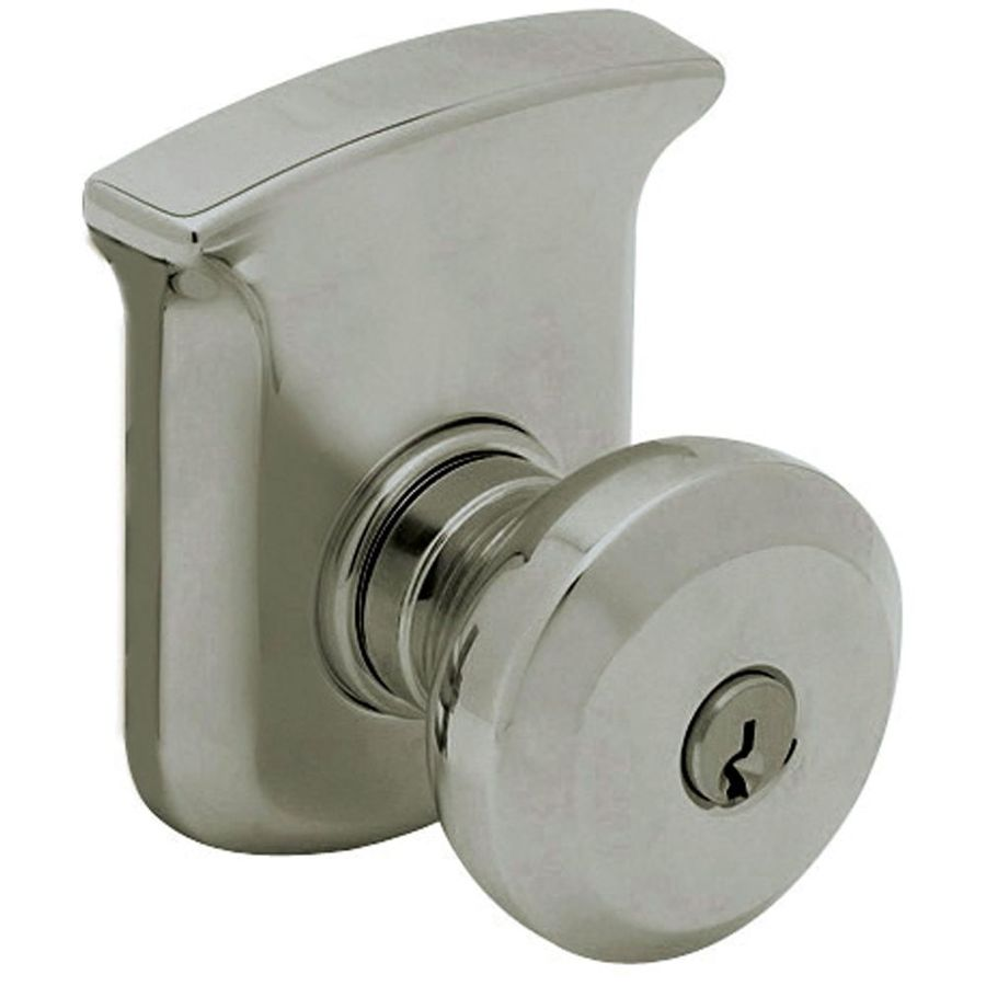 Shop BALDWIN Tahoe Antique Nickel Round Keyed Entry Door Knob At