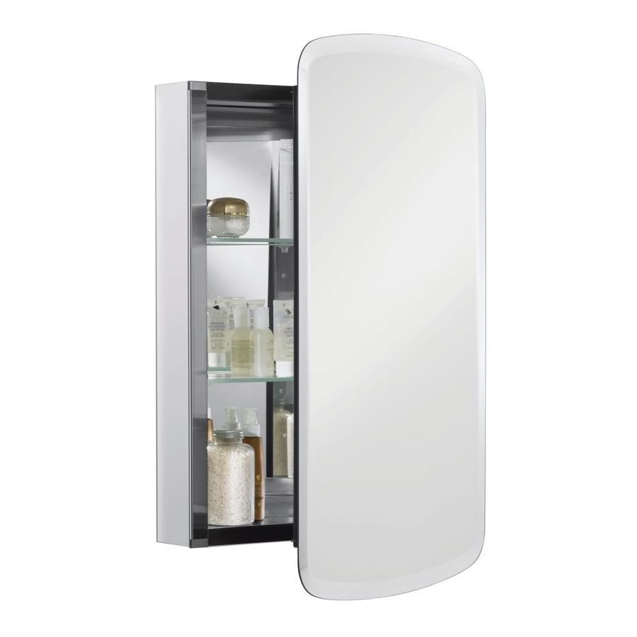 in h x 20 in w aluminum plastic recessed medicine cabinet at