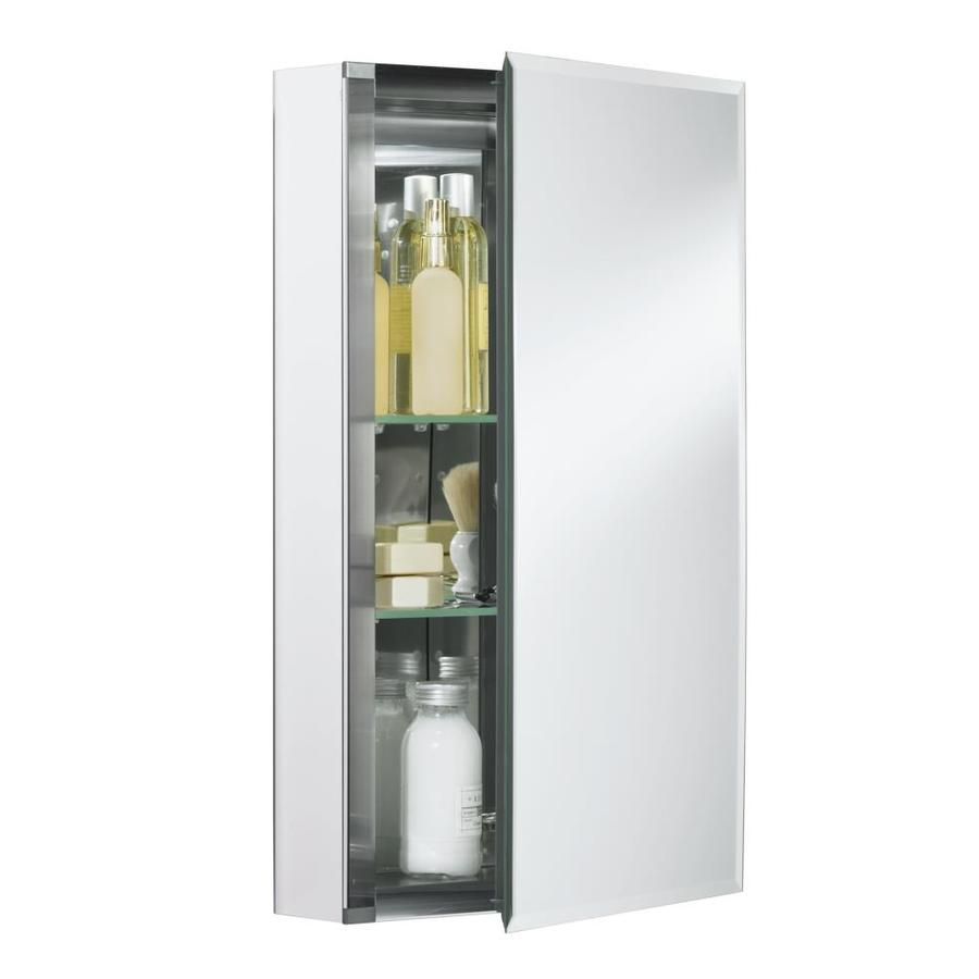 Shop kohler 15 in x 26 in aluminum metal surface mount and for Medicine cabinets