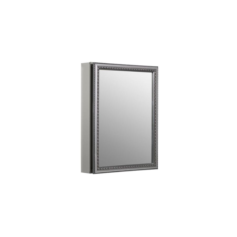 metal surface mount and recessed medicine cabinet at