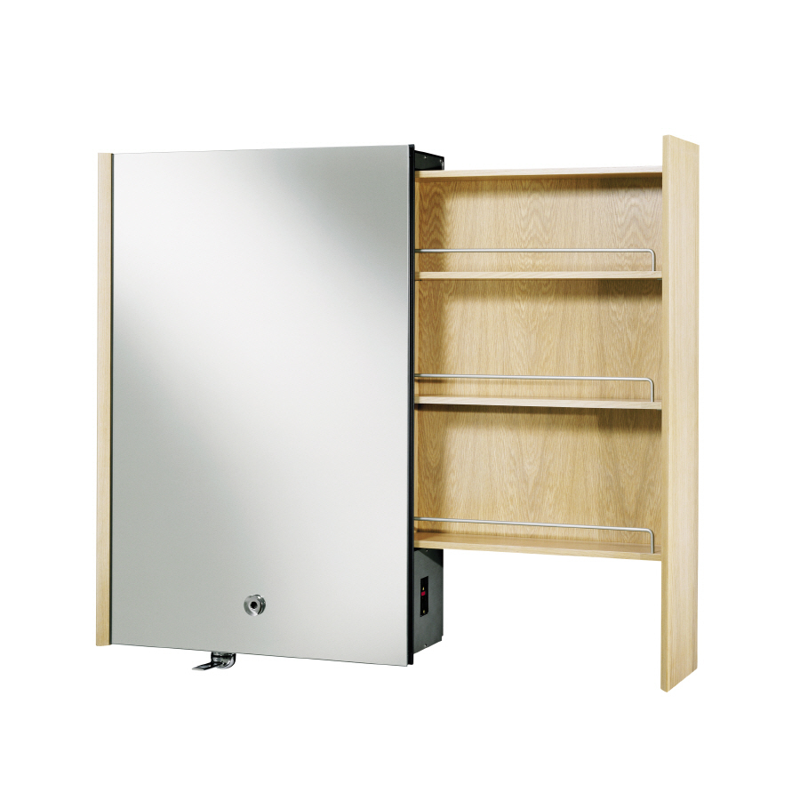 Shop kohler purist 24 in x 36 in white oak metal surface mount medicine cabin - Armoire pharmacie design ...