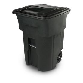 Toter 96-Gallon Greenstone Plastic Wheeled Trash Can with Lid