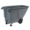 Toter 201.97-Gallon Textured Industrial Gray Wheeled Trash Can