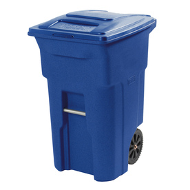 Toter 64-Gallon Blue Indoor/Outdoor Garbage Can