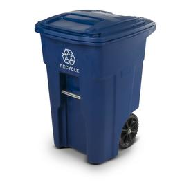Toter 48-Gallon Blue Indoor/Outdoor Recycling Cart