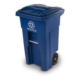 Toter 32-Gallon Indoor/Outdoor Recycling Cart